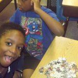 Puzzle time during break.