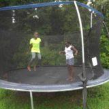 Trampoline fun this summer.