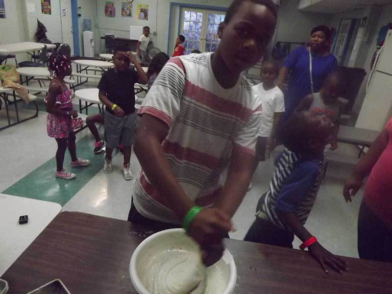 Summer cooking classes at Precious Blessings Academy.