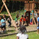 Summertime playground fun.