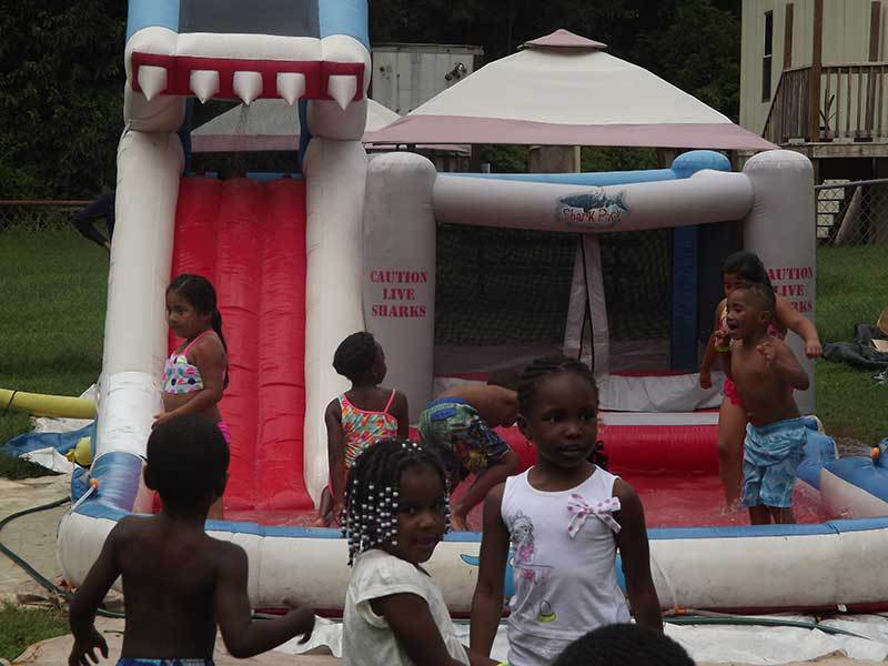 Bounce House fun at Precious Blessings Academy camp this summer.