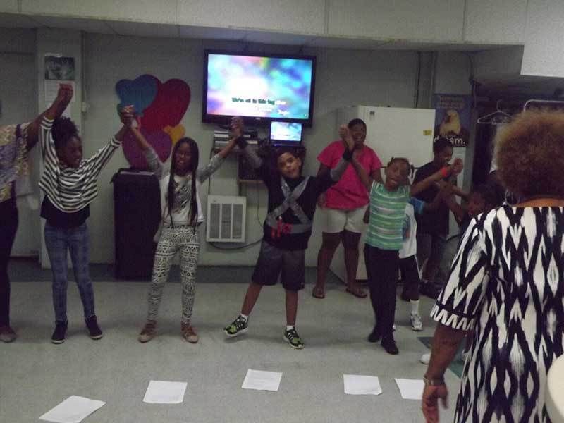 Music class at Precious Blessings Academy